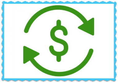 FAQ Auto Payment, Dollar Sign With Arrows Circling It