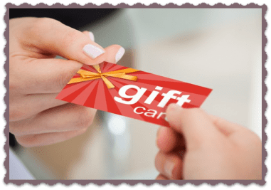 FAQ Gift Cards Hands holding a gift card