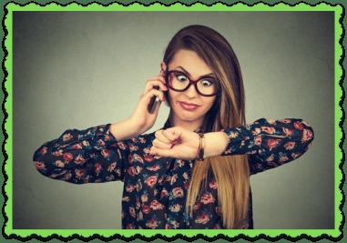 FAQ How Long Does it Take - Girl watching wrist watch