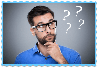 FAQ Man questioning how to include company in perks