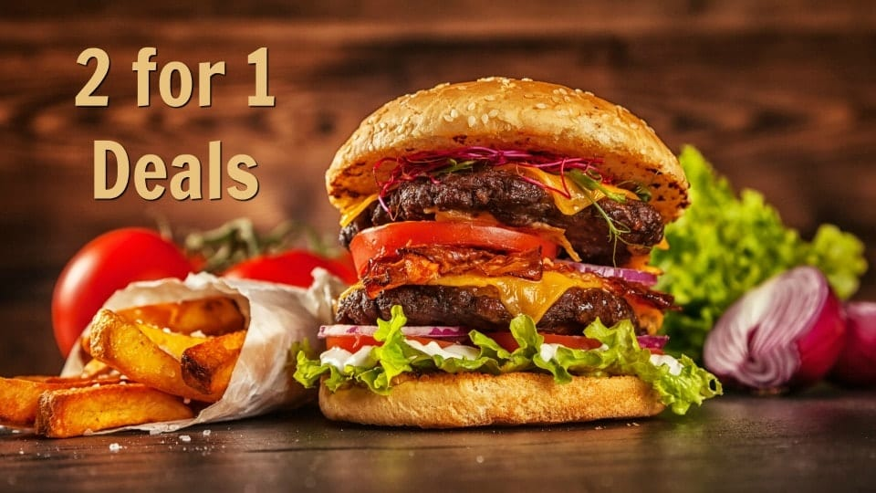 2 for 1 Deals, Savvy Perks Restaurant Deals