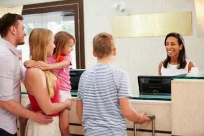 About Savvy Perks, Family at Hotel Lobby