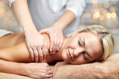About Savvy Perks, Woman Getting Massage