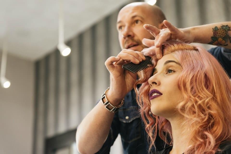 Hair Care Celebrity stylist doing a color job