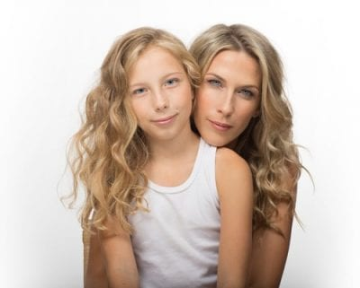 Mother and Daughter hair care