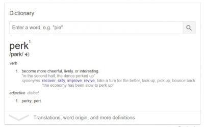 Perk Definition Dictionary
