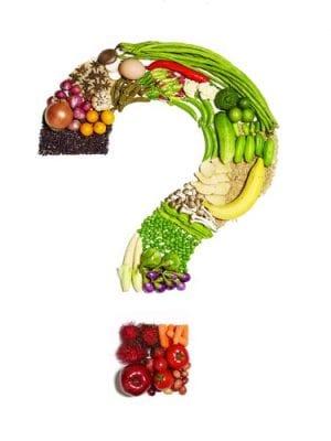 Question mark of vegetables questioning restaurant deals