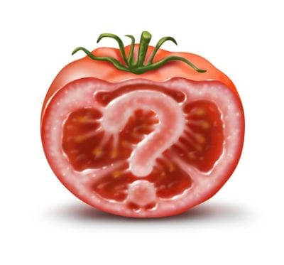 Tomato with question mark in center questioning restaurant deals