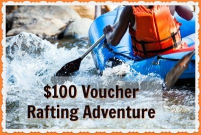 Whitewater rafting adventure voucher
