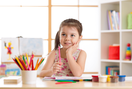 Child Time Learning Center, Little Girl Coloring