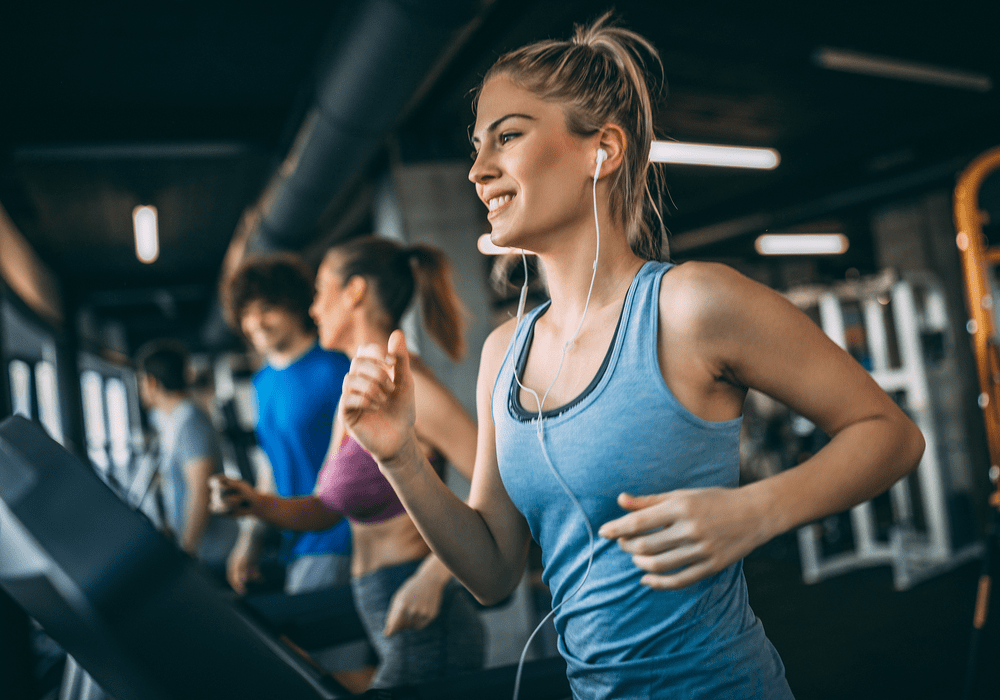 Anytime Fitness, Woman Running