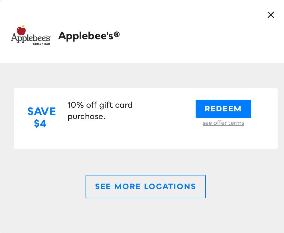 Applebee's, Savvy Perks