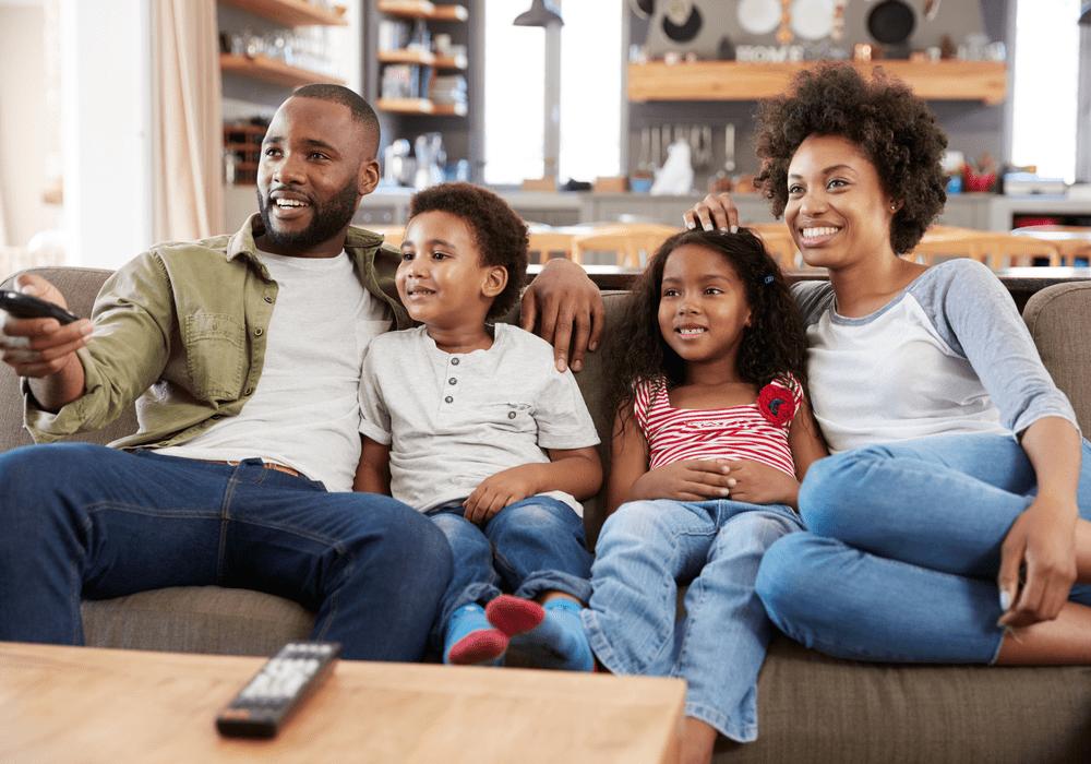 DIRECTV, Family Watching TV