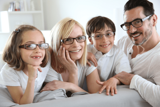 Discount Glasses, Family With Glasses