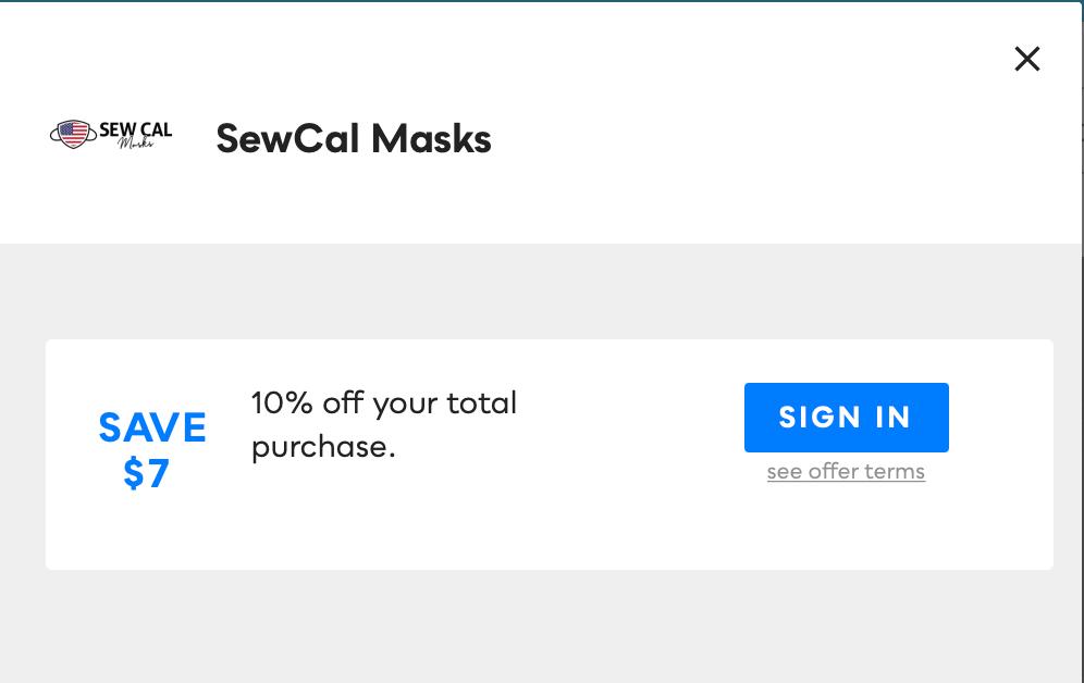 SewCal Masks, Savvy Perks