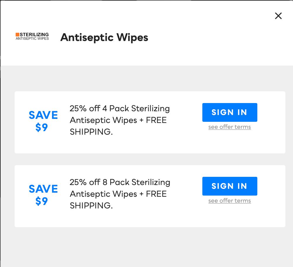 Antiseptic Wipes, Savvy Perks