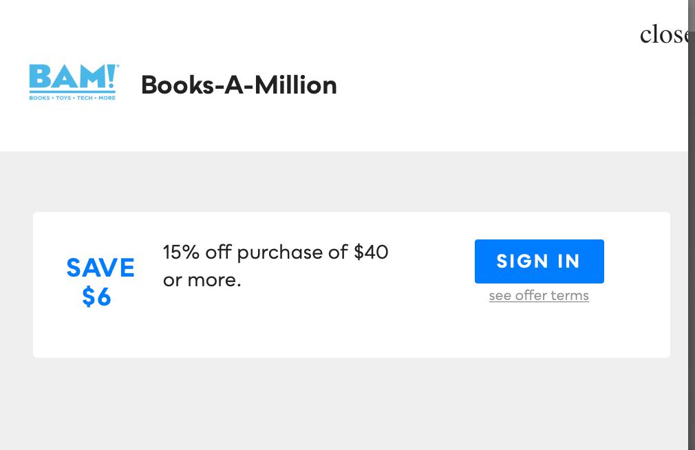 Books-A-Million, Savvy Perks