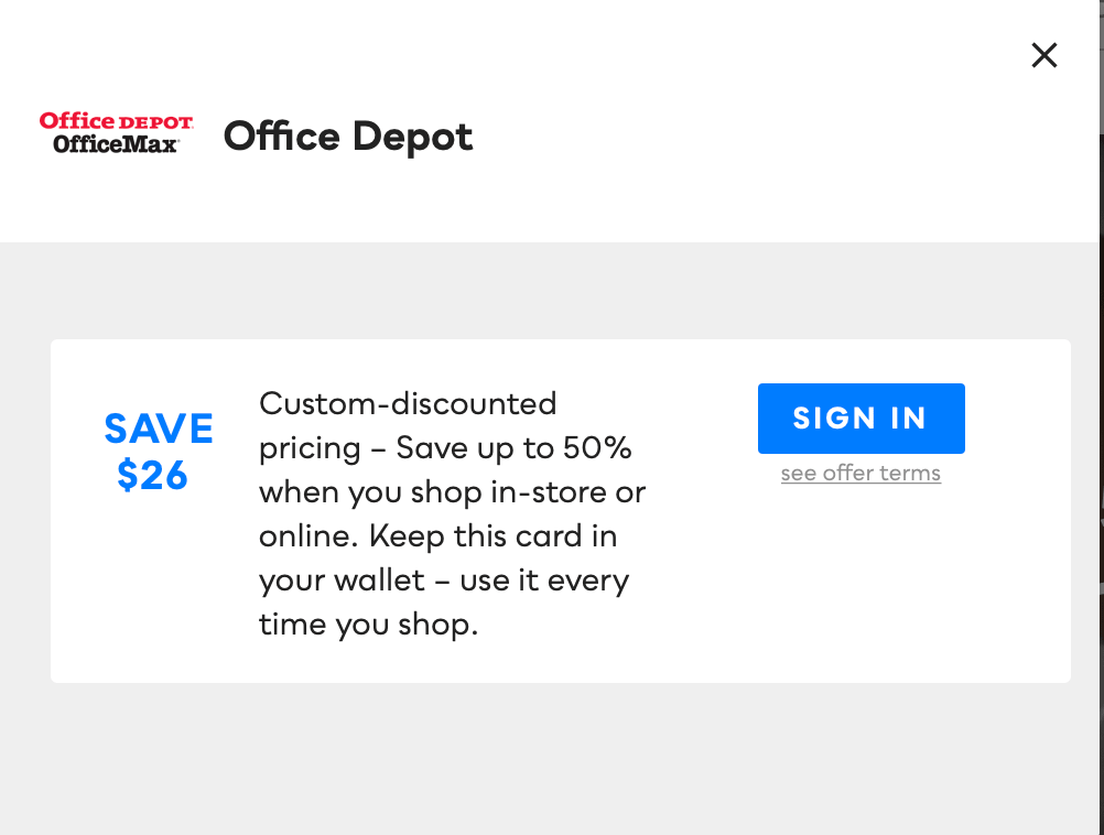 Office Depot, Savvy Perks