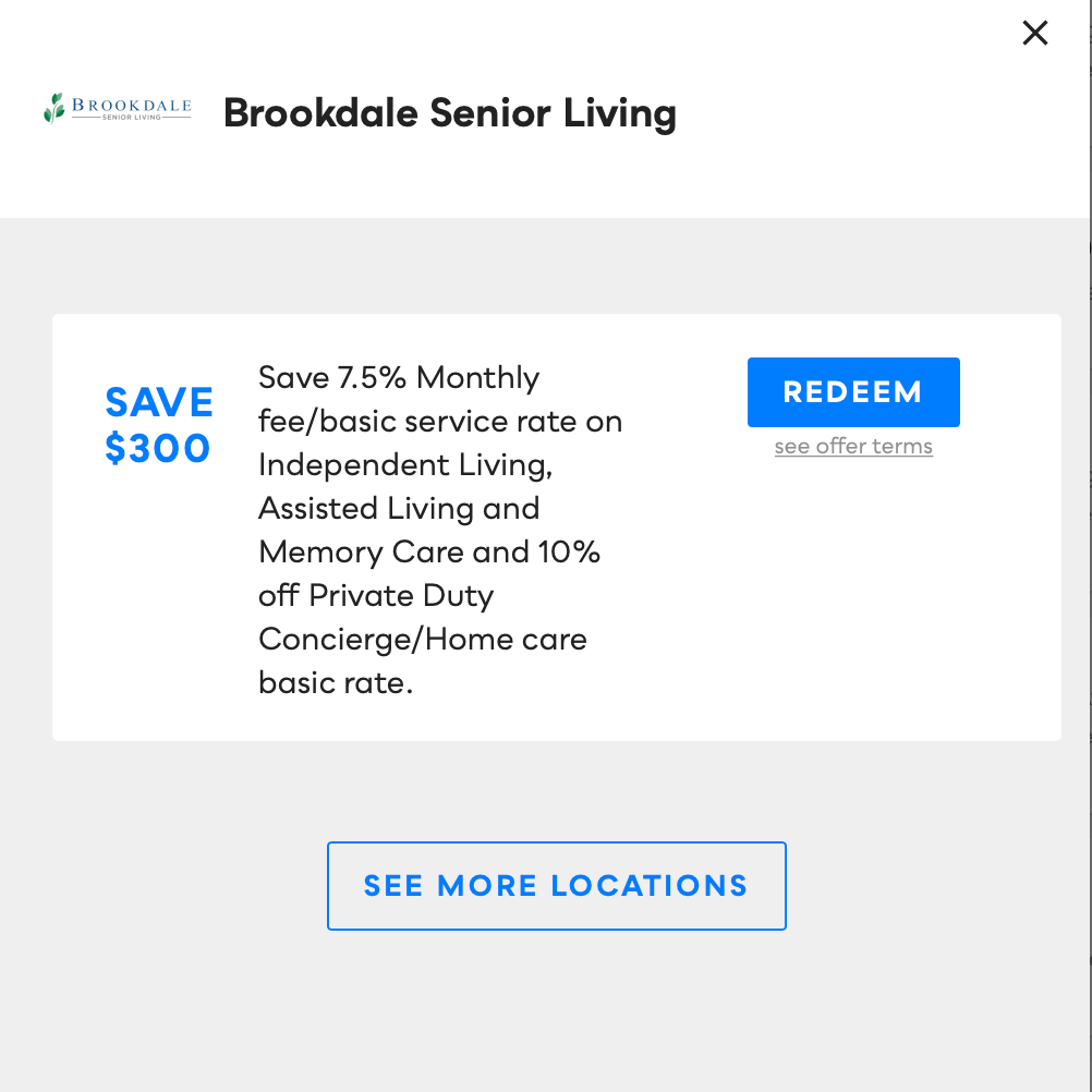 Brookdale Senior Living, Savvy Perks