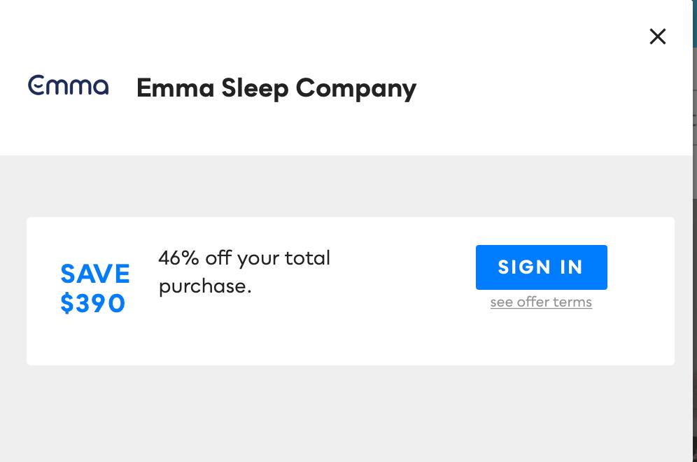 Emma Sleep Company, Savvy Perks