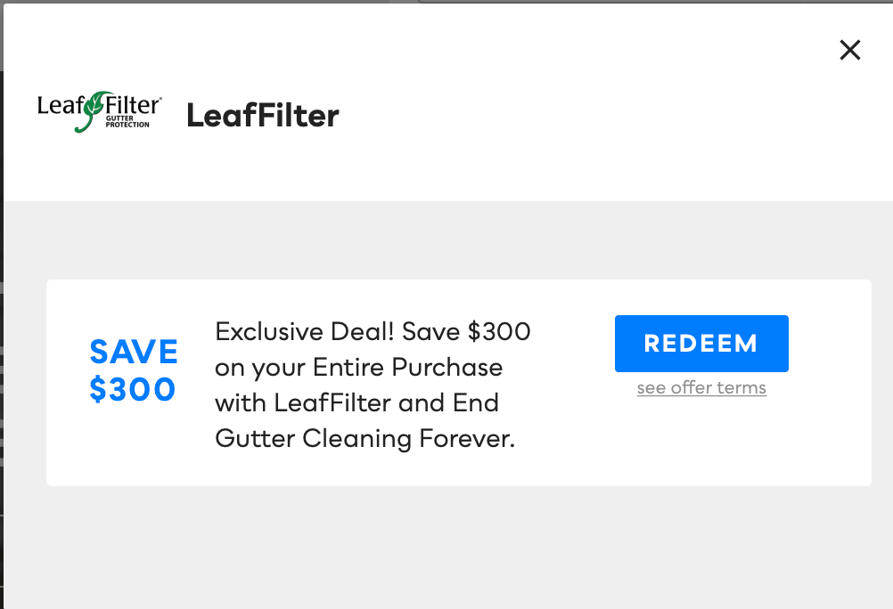 LeafFilter, Savvy Perks