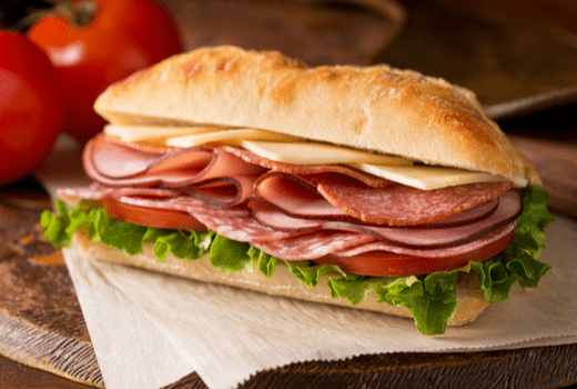Quiznos, Sandwich