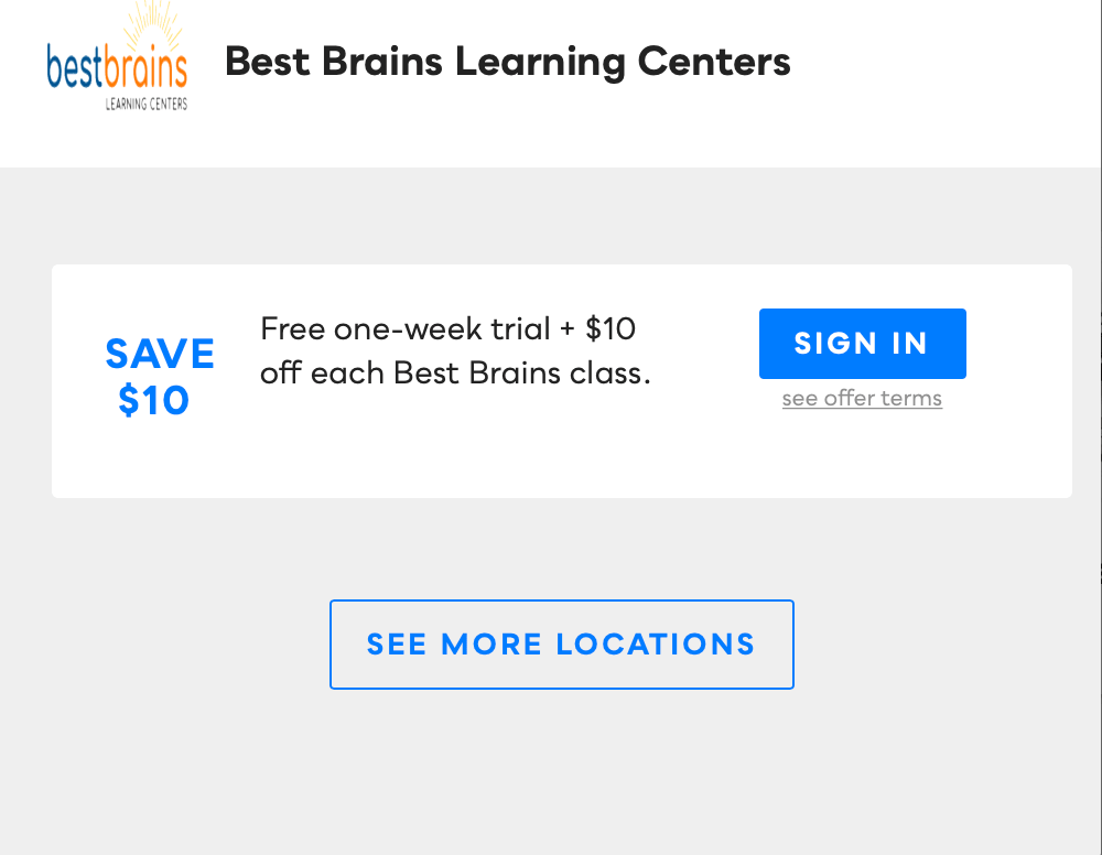 Best Brains Learning Centers Savvy Perks