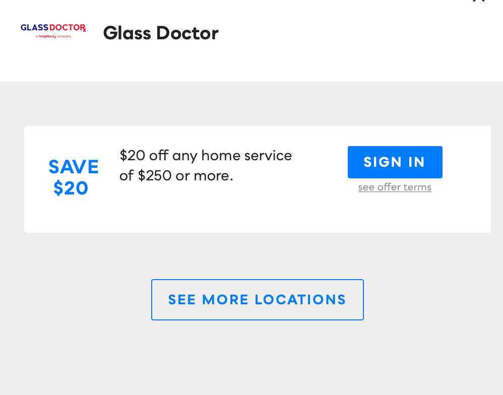 Glass Doctor Savvy Perks
