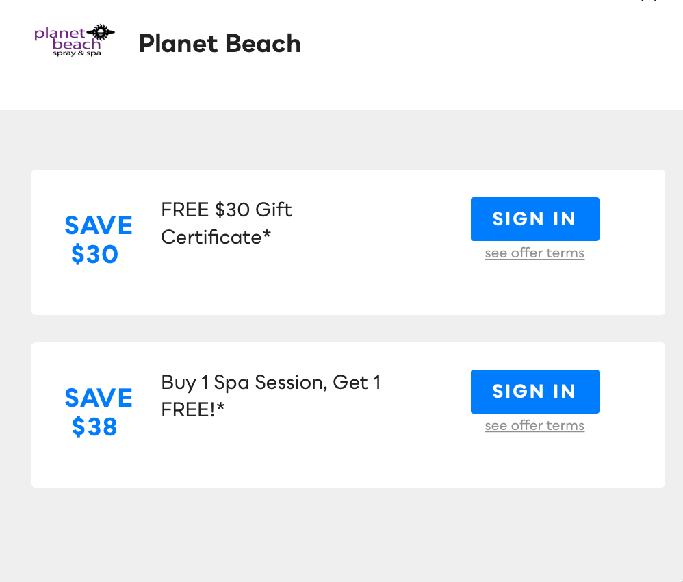 Planet Beach Savvy Perks