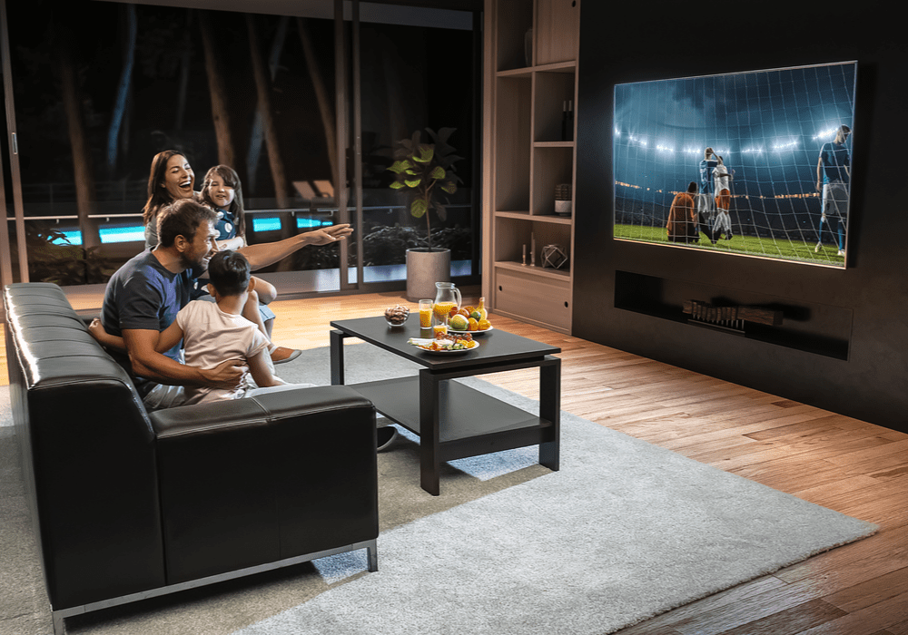 Sonos Family Watching Tv