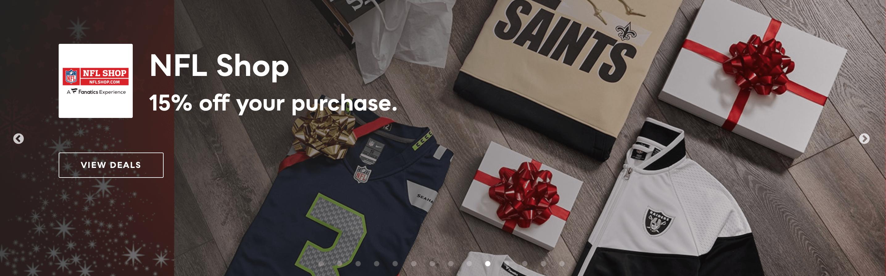 NFL Shop Savvy Perks