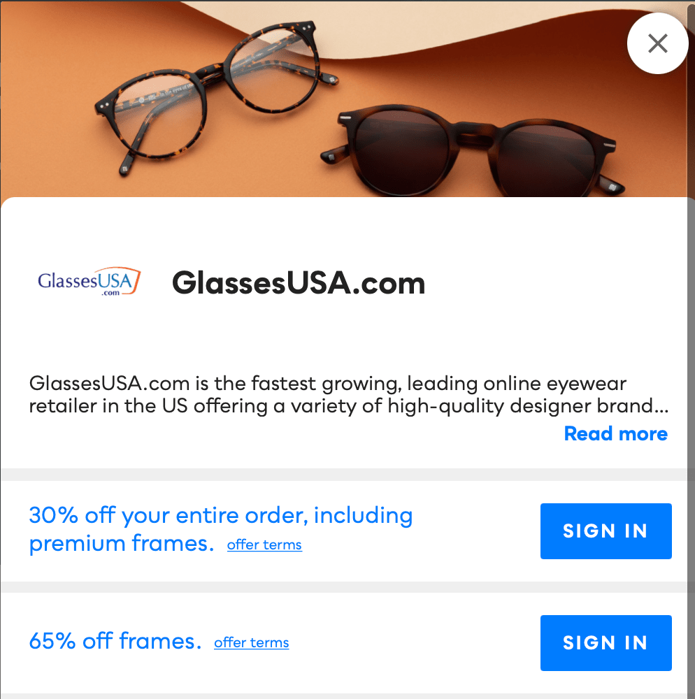 GlassesUSA.com Savvy Perks