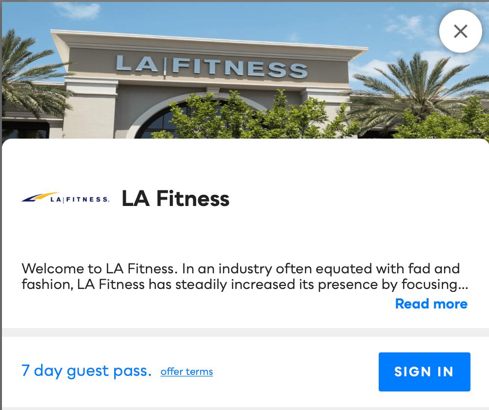 LA Fitness Savvy Perks