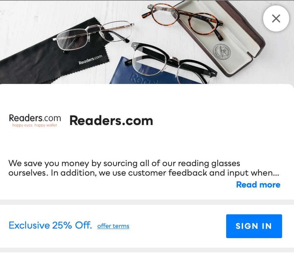 Readers.com Savvy Perks