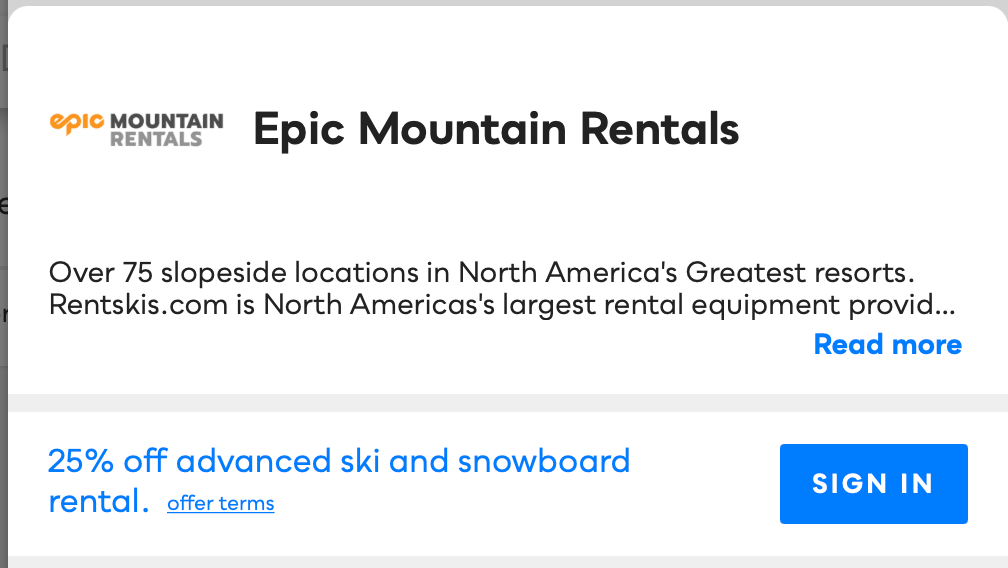 Epic Mountain Rentals Savvy Perks