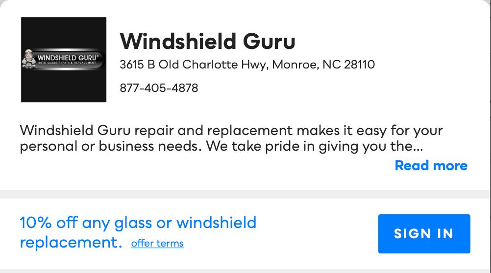 Windshield Guru Savvy Perks