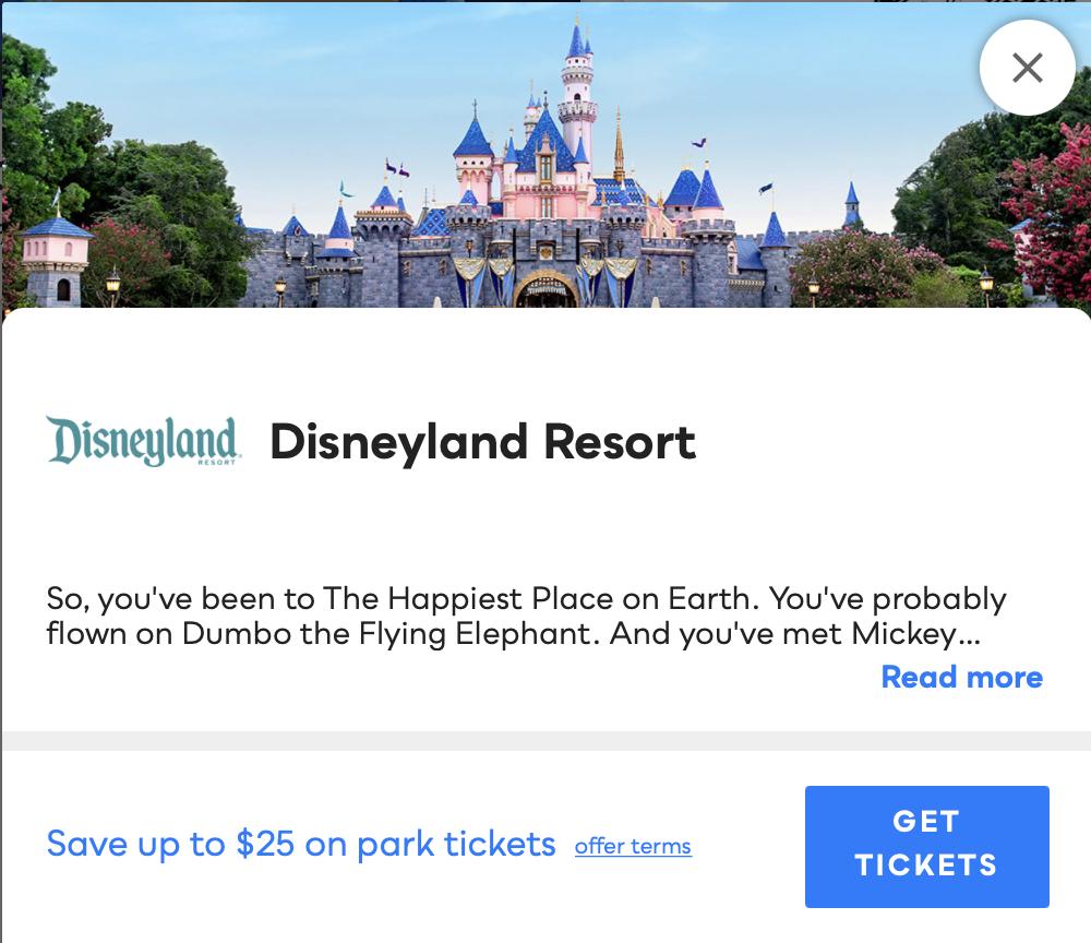 Disneyland Resort Savvy Perks