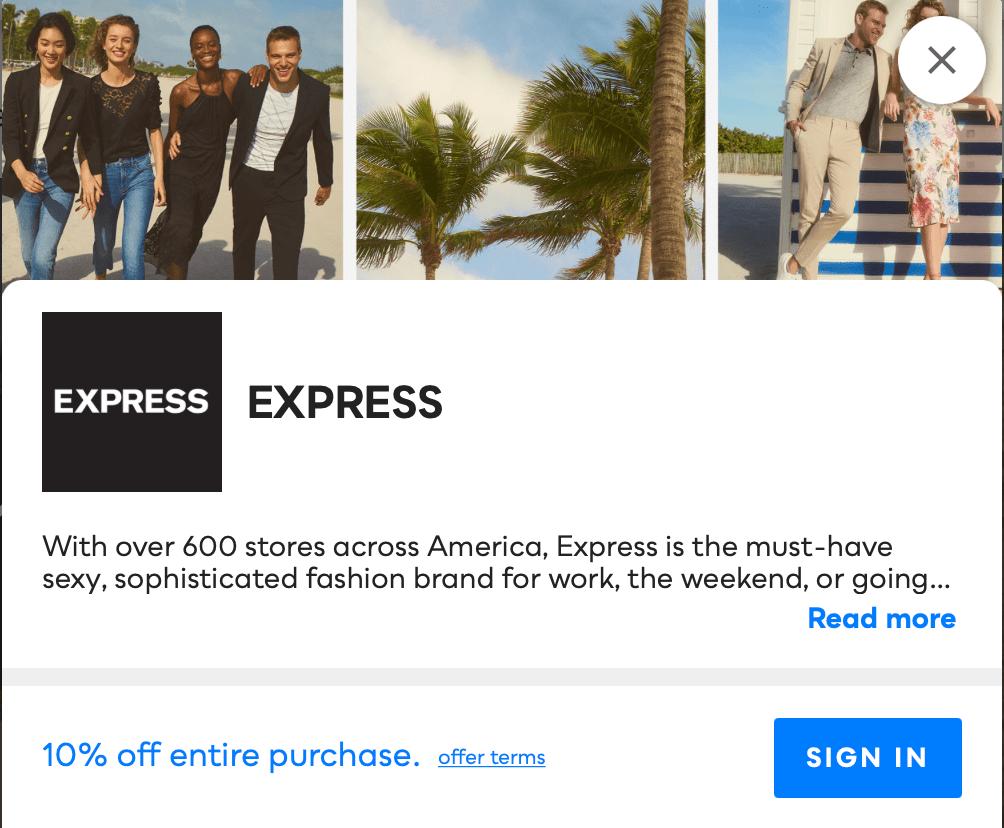 Express Savvy Perks