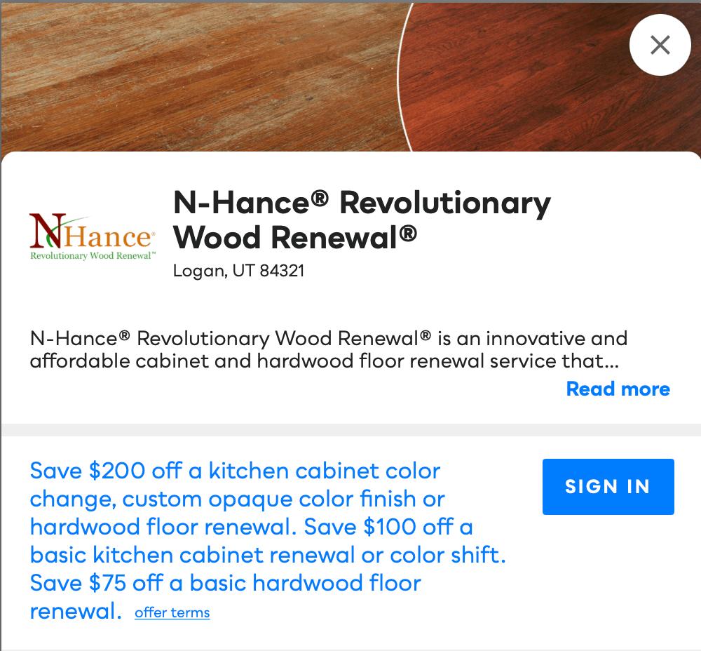 N-Hance Revolutionary Wood Renewal Savvy Perks