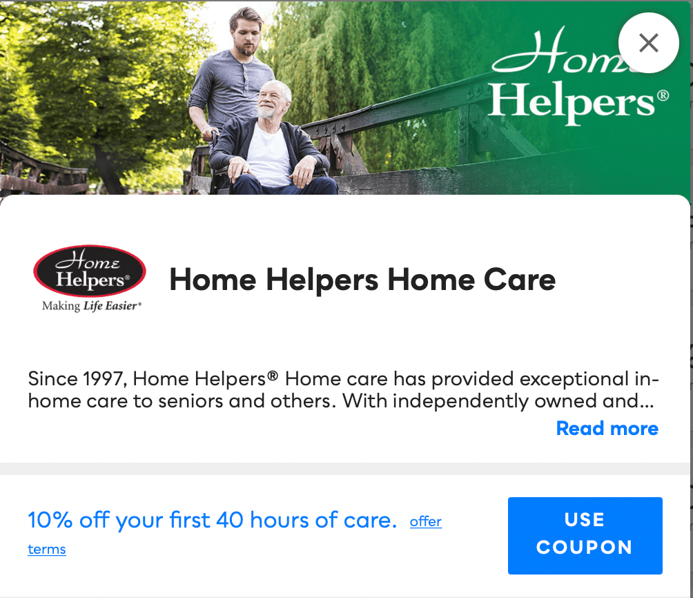 Home Helpers Home Care Savvy Perks