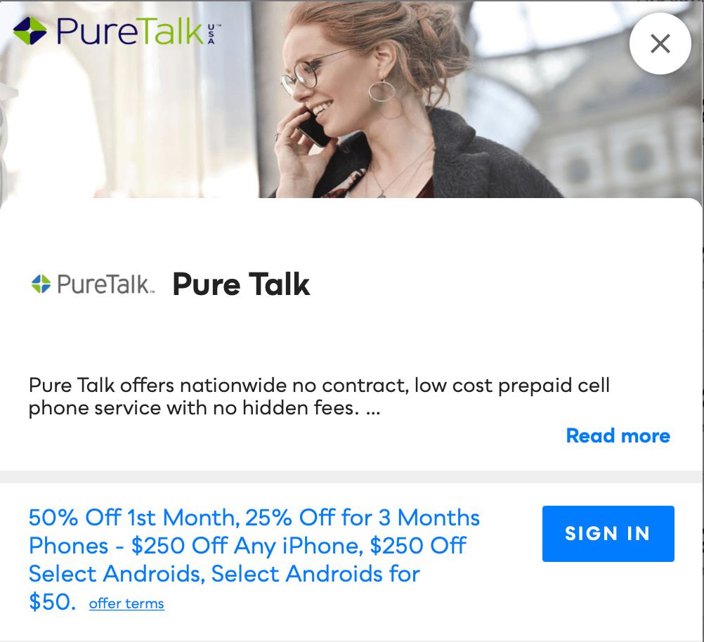 Pure Talk Savvy Perks