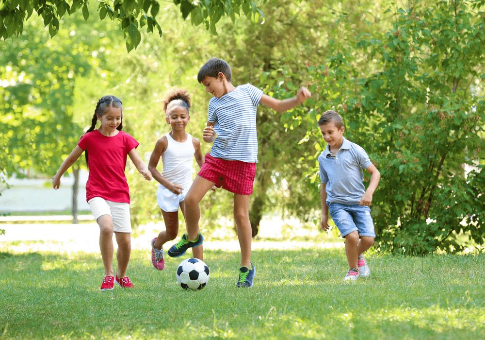Dunham's Sports Kids Playing Soccer