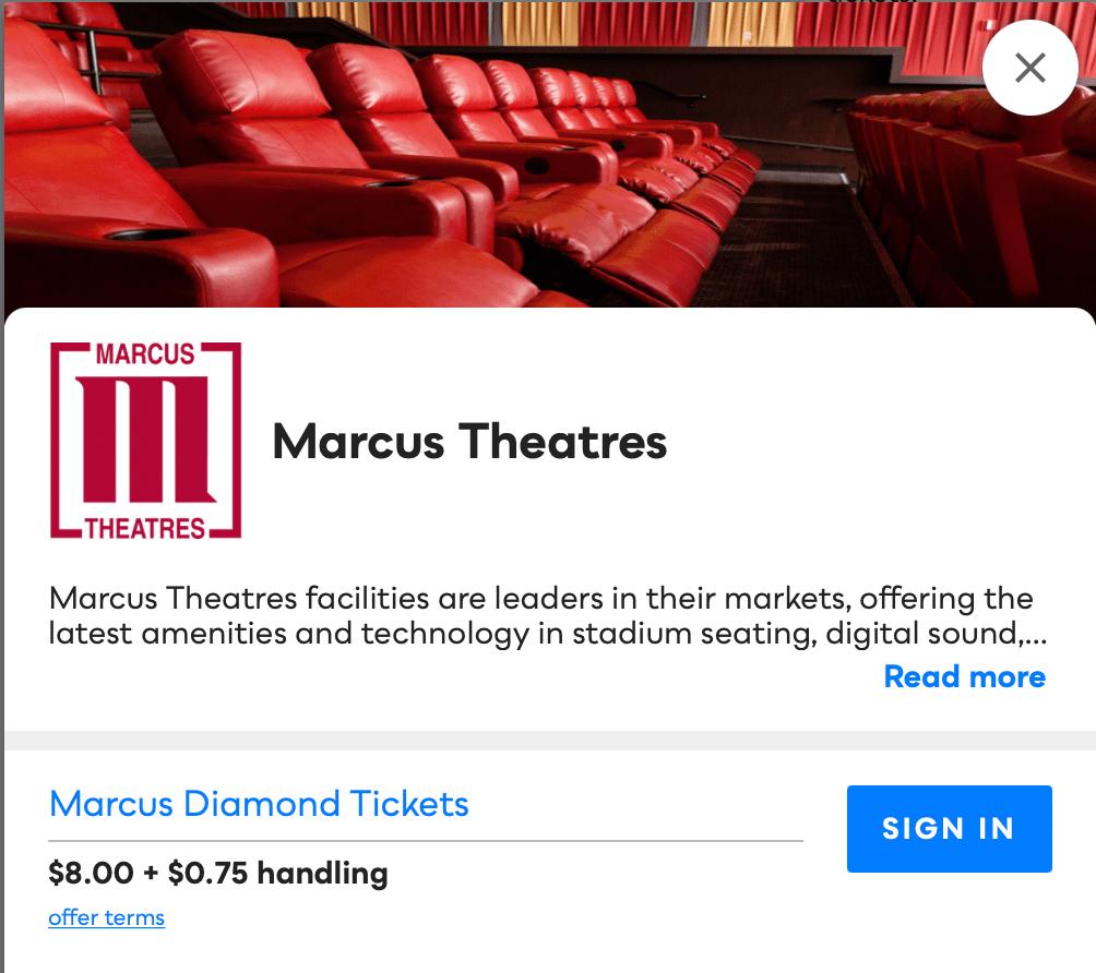 Marcus Theatres Savvy Perks