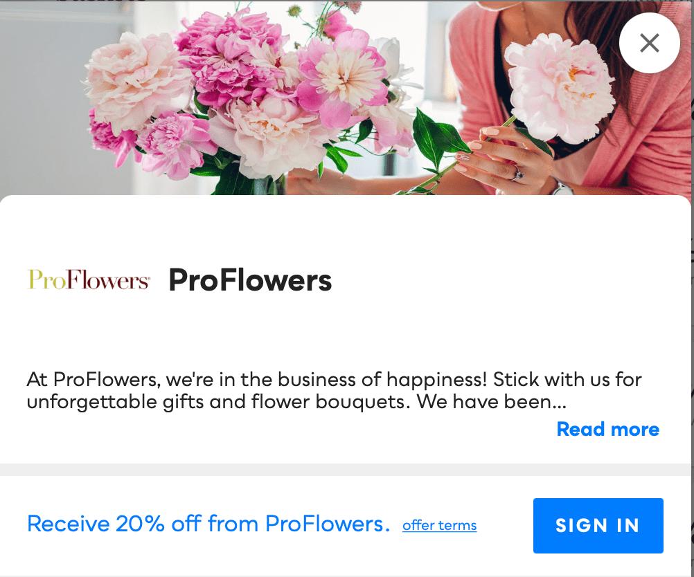 ProFlowers Savvy Perks