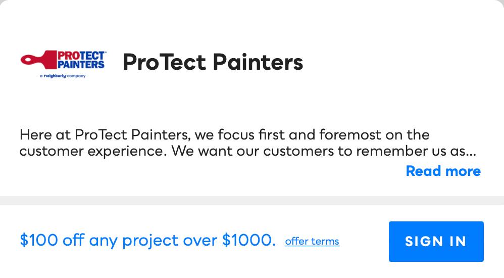 ProTect Painters Savvy Perks