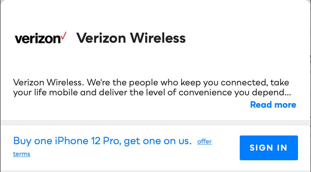 Verizon Wireless Savvy Perks