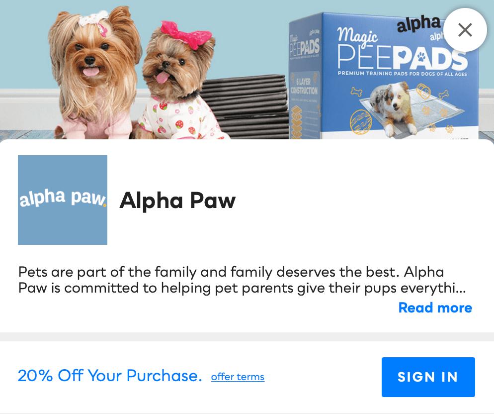 Alpha Paw Savvy Perks