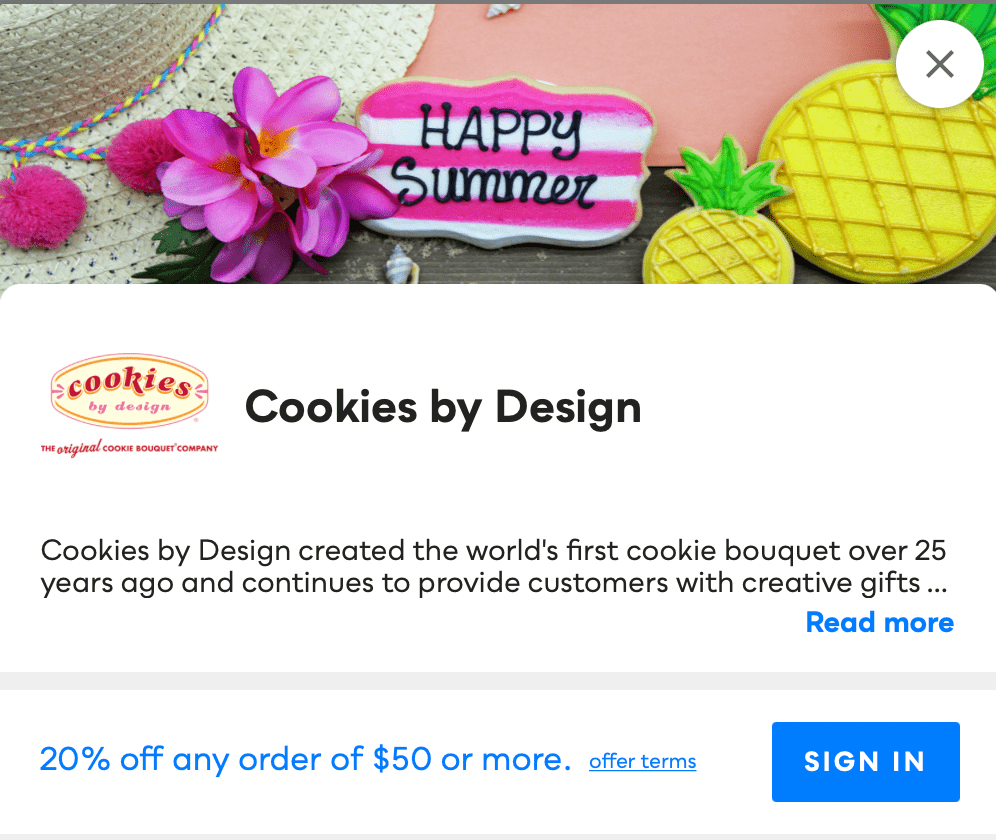 Cookies By Design Savvy Perks
