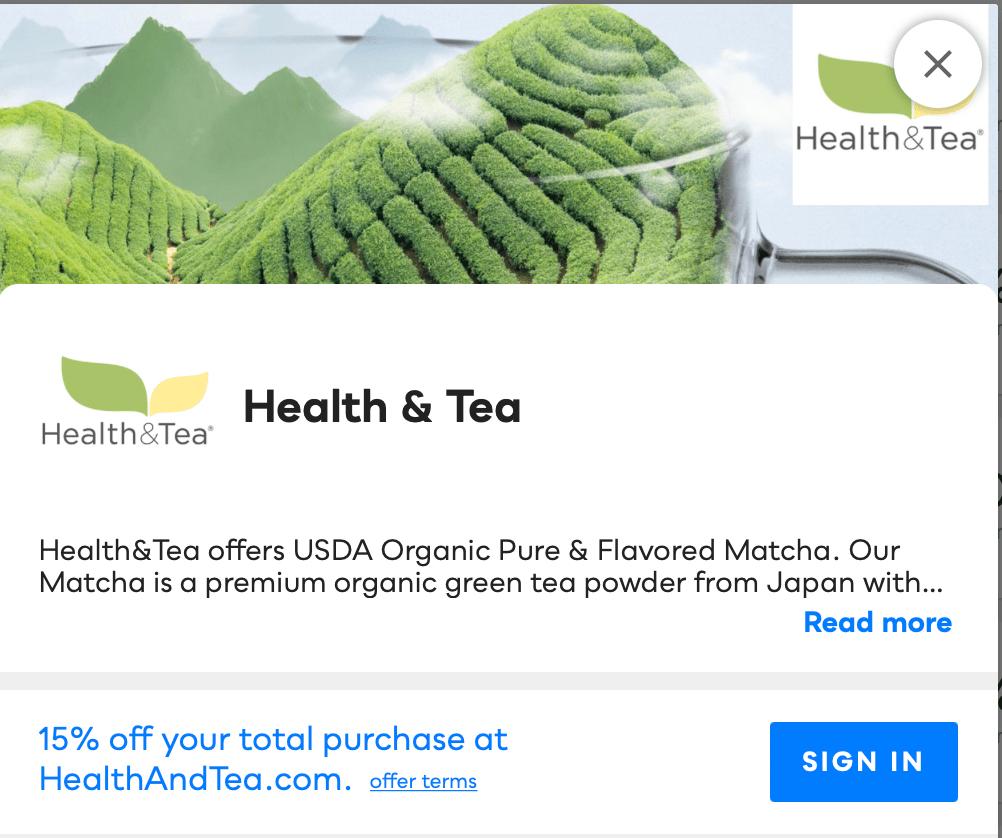 Health & Tea Savvy Perks