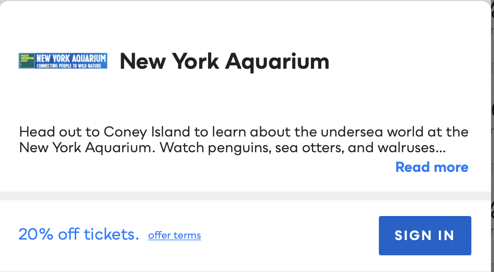 New York Aquarium Savvy Perks